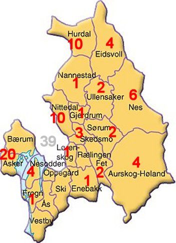 akershus fylke kart Akershus 1865 akershus fylke kart